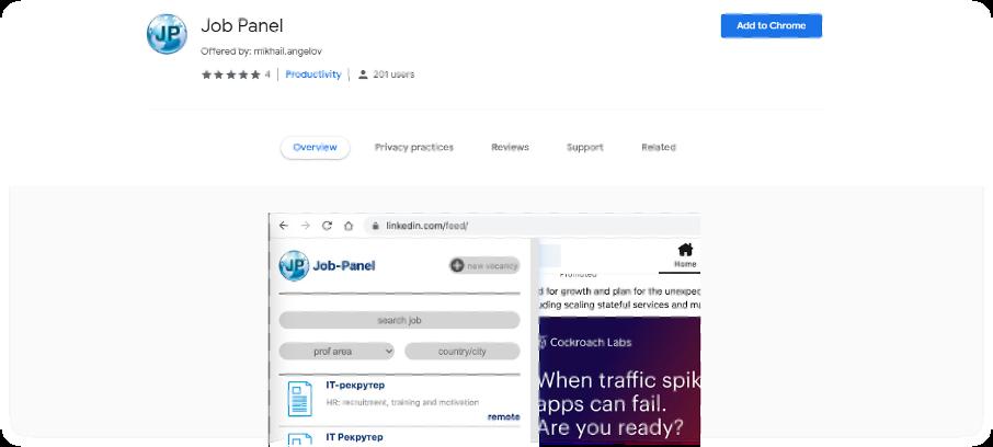 Job-Panel-Google-Chrome